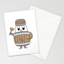 Beer-Barrel Egg Stationery Cards