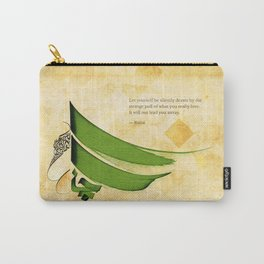 Arabic Calligraphy - Rumi - Strange Pull Carry-All Pouch