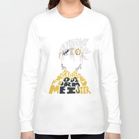 soul eater Long Sleeve T-shirts featuring soul eater evans by Rebecca McGoran