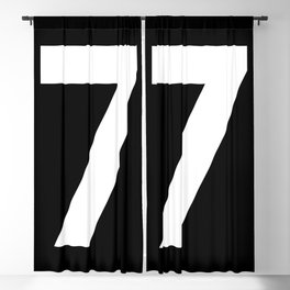 Number 7 (White & Black) Blackout Curtain
