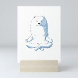 Samoyed Yoga Mini Art Print
