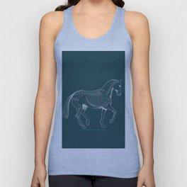 Da Vinci Horse: Dressage Piaffe Unisex Tank Top