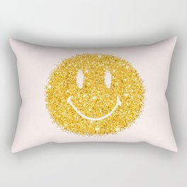 Happy Glitter Rectangular Pillow