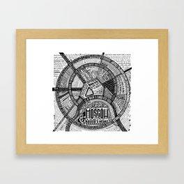 Moscow Map Framed Art Print