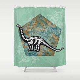 Brachiosaurus Fossil Shower Curtain