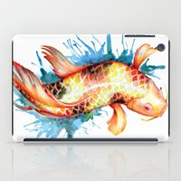 koi fish iPad Cases featuring Koi Fish by Sam Nagel