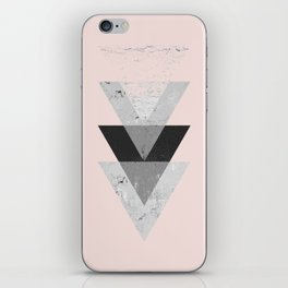 Inverted triangle geometric pattern iPhone Skin
