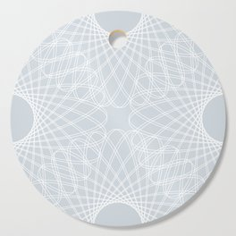 mathematical rotating roses - ice gray Cutting Board