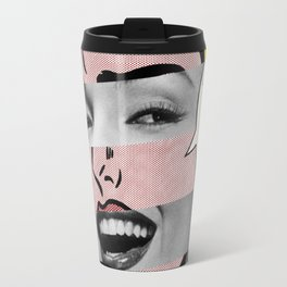 "Roy Lichtenstein's ""Oh, Jeff I Love You, Too But..."" & Marylin Monroe Travel Mug"