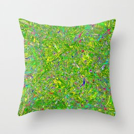 Abstract RR QQY Throw Pillow