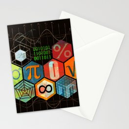 Math Game in black Stationery Cards