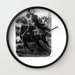 original rare WWII Cossack cavalyram Studio photo horseman sword Wall Clock