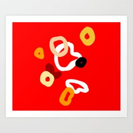 playful red Art Print