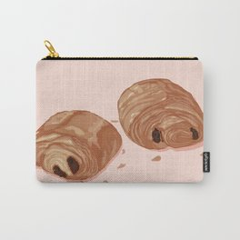 Deux p'tits Pains au chocolat Pink Carry-All Pouch