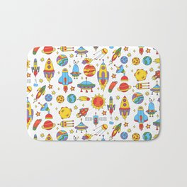 Outer space cosmos pattern Bath Mat