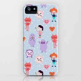 funny monsters iPhone Case