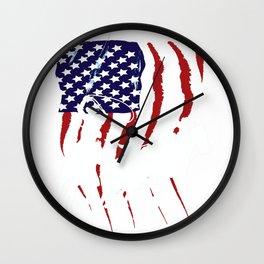 Rodeo Team Roping Distressed Grunge USA Cowboy T-Shirt Wall Clock