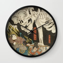 Utagawa Kuniyoshi  - Mitsukuni And The Skeleton Spectermid Wall Clock