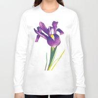 iris Long Sleeve T-shirts featuring Iris by Matt McVeigh