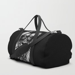 Hipster Lion Black and white Duffle Bag