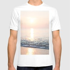 Summer Breeze White Mens Fitted Tee MEDIUM