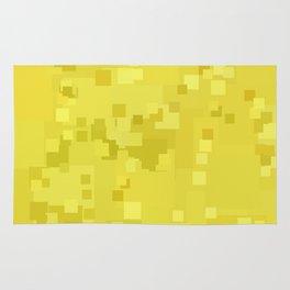 Lemon Drop Square Pixel Color Accent Rug