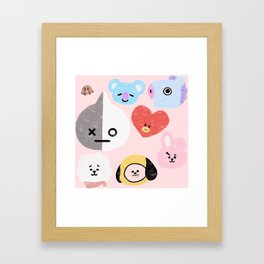 BTS21 Characters in Pastel Framed Art Print