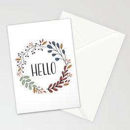 Hello Fall Wreath Stationery Cards
