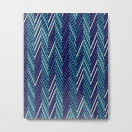 Abstract Chevron II Metal Print