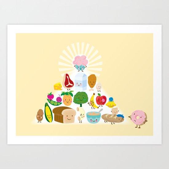 perfect pyramid Art Print