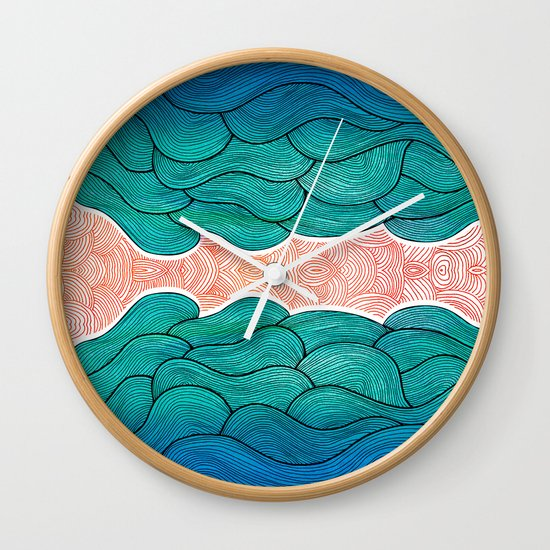 Ocean Flow Wall Clock