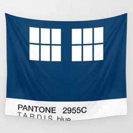 TARDIS Blue Pantone Wall Tapestry