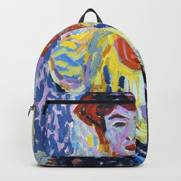 Doris with Ruff Collar - Ernst Ludwig Kirchner Backpack