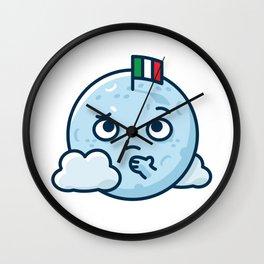 Confused Moon Wall Clock