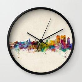 Calcutta (Kolkata) India Skyline Wall Clock