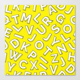 Vector Illustration White Yellow Pattern Children Learning Canvas Print