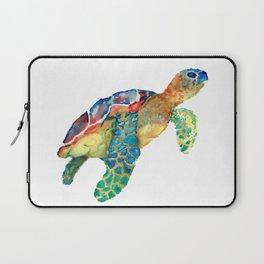 watercolour rainbow sea turtle Laptop Sleeve