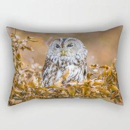 Tawny Owl in woodland Rectangular Pillow