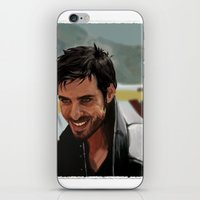 hook iPhone & iPod Skins featuring Hook by MagnoliaRuby
