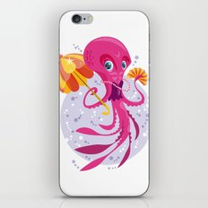 Miss Octopus iPhone & iPod Skin