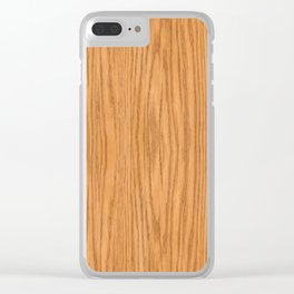 Wood 3 Clear iPhone Case