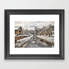 An Unexpected Snowfall Framed Art Print