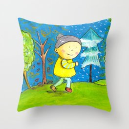 Run in every season of your life! Throw Pillow
