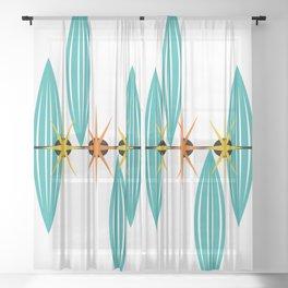 Mid-Century Modern Art 1.5 Sheer Curtain