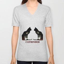 Cat minded Unisex V-Neck