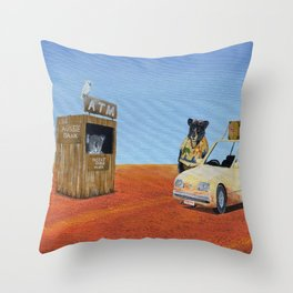 The Outback ATM Throw Pillow