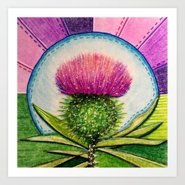 Thistle Art Prints For Any Decor Style Society6
