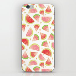 Pink & Gold Watermelon Slices iPhone Skin
