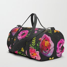 Vibrant Poppy Pattern Duffle Bag