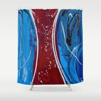 dress Shower Curtains featuring Red Dress by RvHART